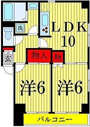 東京都葛飾区宝町1丁目の賃貸マンションの間取り