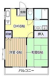 メゾンソレイユ[1階]の間取り