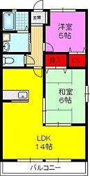 プログレスコート[2階]の間取り