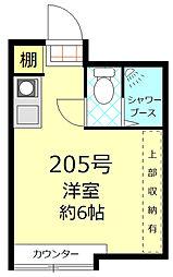 ウィンベル新宿百人町[205号室]の間取り
