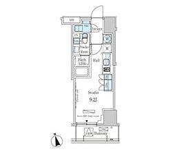 東京メトロ銀座線 表参道駅 徒歩13分の賃貸マンション 4階ワンルームの間取り