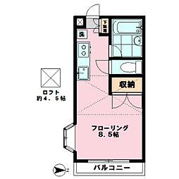 メゾンカワダ[201号室]の間取り