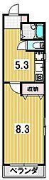 京都府京都市左京区聖護院中町の賃貸マンションの間取り