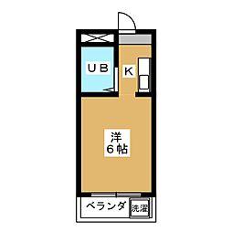 ビラ東寺[2階]の間取り