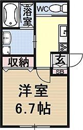仮称)椥辻草海道町ハイツ[102号室号室]の間取り