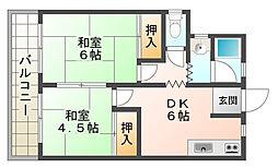 メイゾーン霞ヶ丘D棟[1階]の間取り