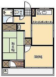 第一長井マンション[202号室]の間取り