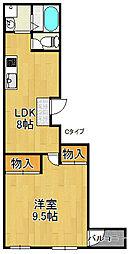 ロイヤルハイツ加賀屋[5階]の間取り