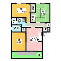 ハウスアトリオ A棟[1階]の間取り