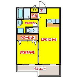 サザンムア舞鶴[1階]の間取り