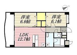 仮称)港3丁目マンション新築工事[2階]の間取り