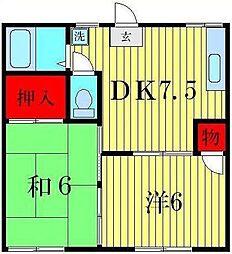 フォーブル12[1階]の間取り