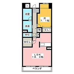 OSM植田 壱番館[2階]の間取り