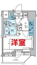 横浜市営地下鉄ブルーライン 吉野町駅 徒歩4分の賃貸マンション 3階1Kの間取り