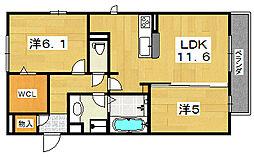 ココ カルティエ[1階]の間取り