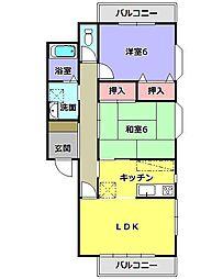 フレール21[1階]の間取り