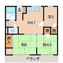 池尻マンション新中島[1階]の間取り