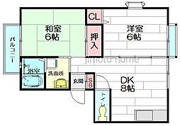 ルレーヴ2番館[1階]の間取り