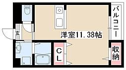 愛知県名古屋市昭和区萩原町6丁目の賃貸マンションの間取り