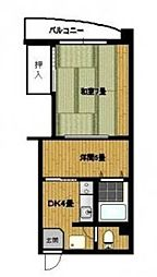 愛媛県松山市永木町1丁目の賃貸マンションの間取り