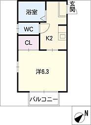 ウッディメゾンS[2階]の間取り