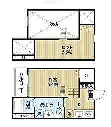 愛知県名古屋市南区道徳通2丁目の賃貸アパートの間取り