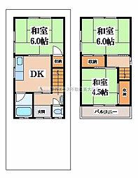 [一戸建] 大阪府大東市深野4丁目 の賃貸【/】の間取り