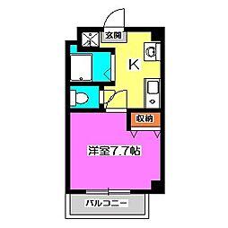 ペールライム[3階]の間取り