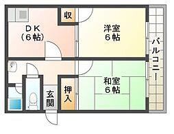 桜宮マンション[3階]の間取り