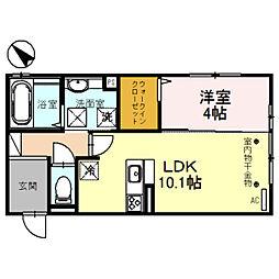 仮)D-room 亀山KY[105号室]の間取り