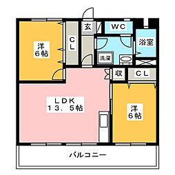 簑原ハイツI[2階]の間取り