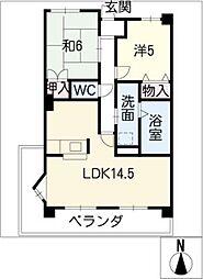 グランメール香久山[7階]の間取り