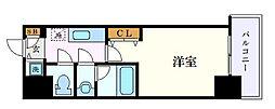 名古屋市営名城線 東別院駅 徒歩9分の賃貸マンション 5階1Kの間取り