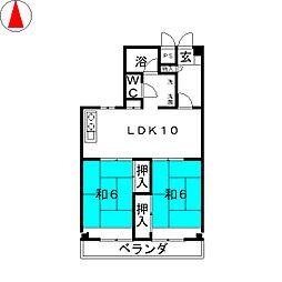 林レジデンス[5階]の間取り