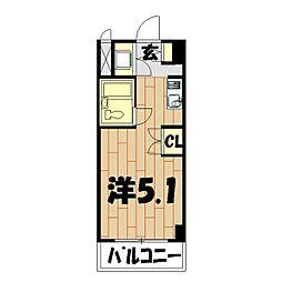 プロシード鶴ヶ峰[207号室]の間取り