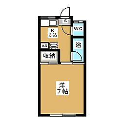 メゾン熊谷[1階]の間取り