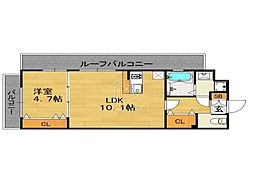 ラピスラズリ桜坂[501号室]の間取り