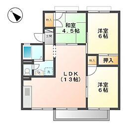 ラ・セジュール I[2階]の間取り