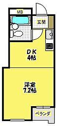 クリエートコート箕面[2階]の間取り