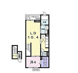 グレープハウス[0401号室]の間取り