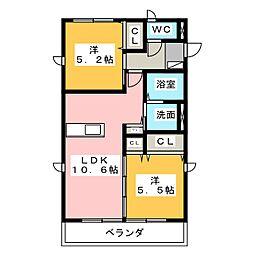 フリースタイルI・II[2階]の間取り