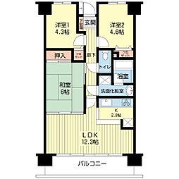 ダイアパレス成東[8階]の間取り