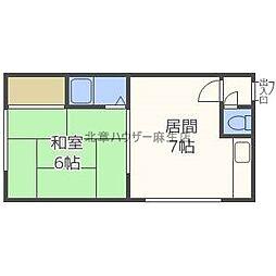 フォーストリート89[2階]の間取り