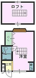 兵庫県神戸市東灘区本山北町4丁目の賃貸アパートの間取り