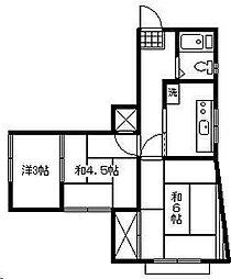 第2みやまコーポ[2階]の間取り