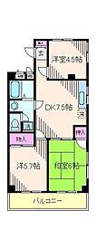リバーサイドシティ[2階]の間取り