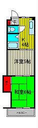 エポックII[3階]の間取り