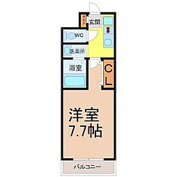 愛知県名古屋市熱田区五本松町の賃貸マンションの間取り