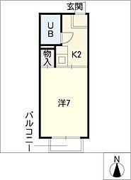 コーポ宮前[2階]の間取り