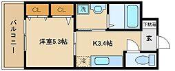 ハイネ2番館[3階]の間取り